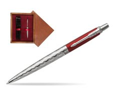 Długopis Jotter London Architecture Classical Red CT w pudełku drewnianym Mahoń Single Bordo