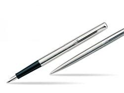 Zestaw pióro wieczne + długopis Jotter Stalowy matowy CT