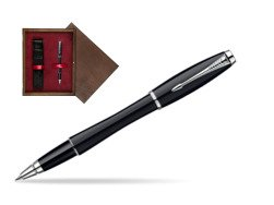 Pióro kulkowe Parker Urban Fashion London Cab Black CT w pudełku drewnianym Wenge Single Bordo